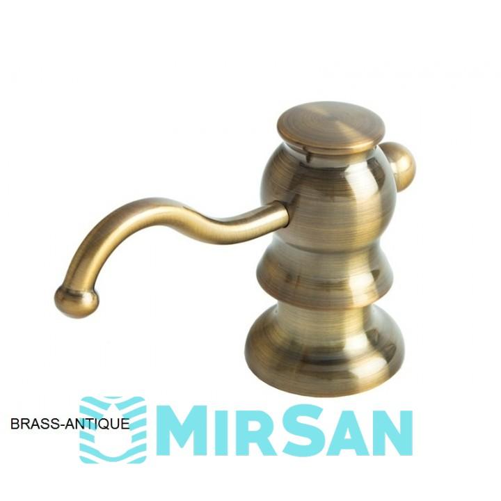 Кухонный дозатор моющего средства латунь,нержавеющая сталь,пластик FAS-D 30 Brass-Antique Fabiano