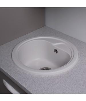 Мийка Fancy Marble Nevada кругла, 450*450*210 білий