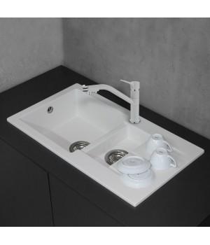 Мийка Fancy Marble Alabama 780x435x160 мм білий