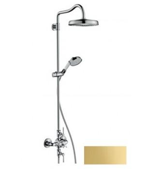 Axor Montreux Showerpipe Душевая система с термостатом и верхним душем 1jet, цв полир золото 16572990 Axor