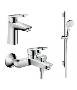 Logis Loop Набор смесителей для ванны, умывальник 100 (71151000+71244000+27353400) 1062017 Hansgrohe