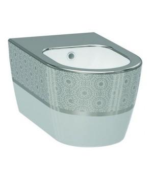 Биде подвесное Idevit Alfa 3106-2605-1201 белый,серебрянный