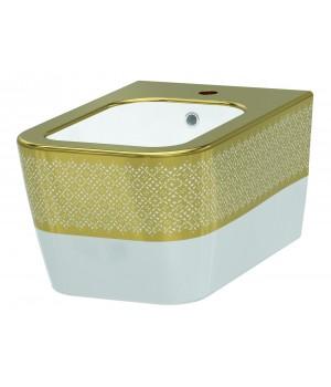 Биде подвесное Idevit Halley 3206-2605-1101 белый,золотой