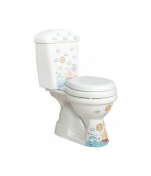 Чаша напольного детского унитаза Idevit Afacan 0504-2106-0171 многоцветный,белый