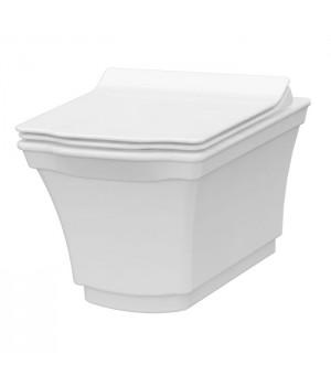 Чаша безободкового подвесного унитаза с функцией биде Idevit Neo Classic 3304-0615 белый