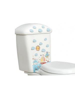 Бачок для підлогового дитячого унітазу Idevit Afacan 0505-0000-0171 малюнок, білий