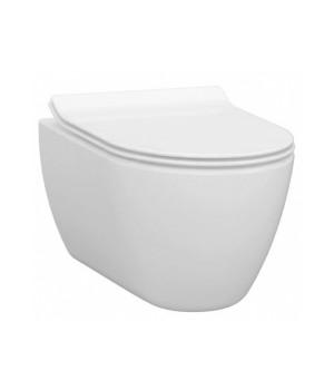 Чаша безободкового подвесного унитаза с функцией биде Idevit Alfa 3104-2615 белый
