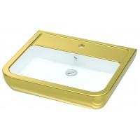 Умывальник подвесной/на столешницу Idevit Halley 3201-0455-11 белый,золотой
