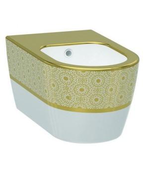 Биде подвесное Idevit Alfa 3106-2605-1101 белый,золотой