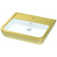 Умывальник подвесной/на столешницу Idevit Halley 3201-0455-1101 белый,золотой