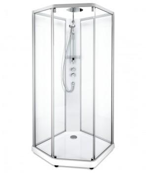Задние стенки душевой кабины Ido Showerama 10-5 80*90см, серебряный профиль/прозрачное стекло