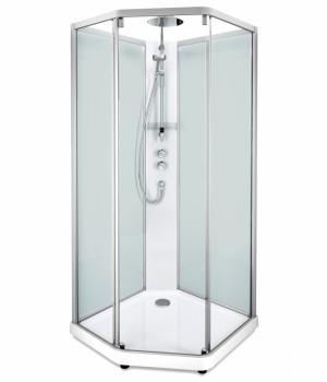 Задние стенки душевой кабины Ido Showerama 10-5 90*90см, серебряный профиль/матовое стекло