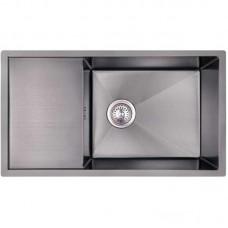 Кухонная мойка из нержавеющей стали Imperial D7844BL PVD black Handmade 3.0