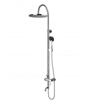 NAHORU система душевая (смеситель для ванны, верхний и ручной душ, 4 режима, шланг 1,5м) Т-10500