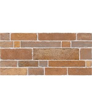 Kерамическая плитка Intercerama Brick стена красно-коричневая/2350 50 022