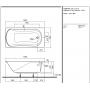Comfort прямоугольная ванна 150 X 75 см, Kolo XWP3050 ножки,крепление