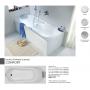Comfort прямоугольная ванна 180 X 80 см, Kolo XWP3080