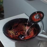 Стеклянная раковина Lava на столешницу GV-710-12mm Kraus