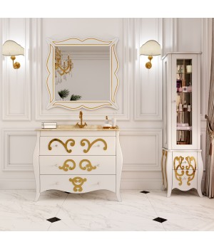 Пенал Marsan Arlette, Люкс 450 белый, золото, серебро