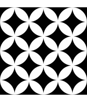 Kерамическая плитка Mayolica District CIRCLES BLACK 200×200×8