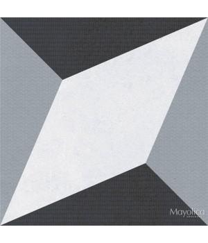 Kерамическая плитка Mayolica Forma DECOR BLACK 200x200x8
