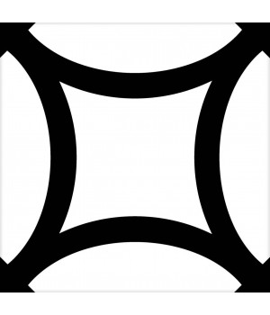 Kерамическая плитка Mayolica District FIGURE BLACK 200×200×8