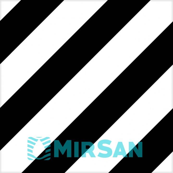 Kерамическая плитка Mayolica District LINES BLACK 200×200×8