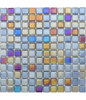 Мозаика АкваМо Black PL25309 (моноколор+перламутр) 31,7х31,7