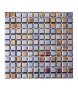 Мозаика АкваМо Cobalt PL25304 (моноколор+перламутр) 31,7х31,7