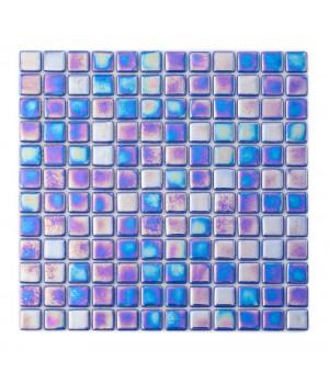 Мозаика АкваМо Blue PL25303 (моноколор+перламутр) 31,7х31,7