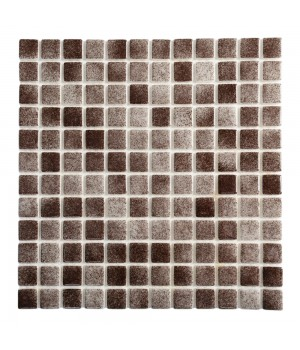 Мозаика АкваМо Dark Brown PW25207 Anti 31,7х31,7