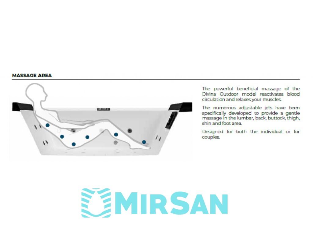 Гидромассажный СПА-бассейн Novellini DIVINA OUTDOOR, Италия - новое измерение релакса