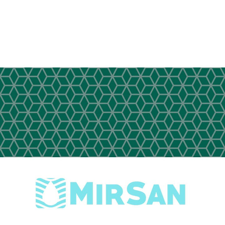 Kерамическая плитка Golden Tile Arcobaleno Декор бирюзовый Argento №2 200х500