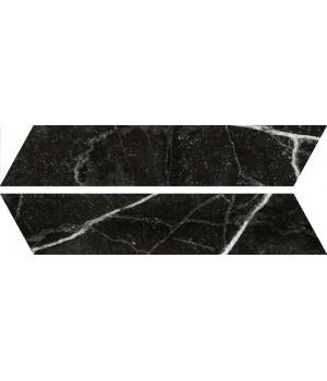 Kерамическая плитка Oset Tinos BLACK CHEVRON 400×80×8