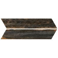 Kерамическая плитка Oset Bora BLACK CHEVRON 400×80×8