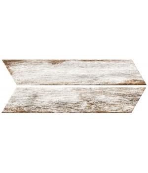 Kерамическая плитка Oset Bora WHITE CHEVRON 400×80×8