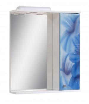 Зеркало 60 см голубые цветы