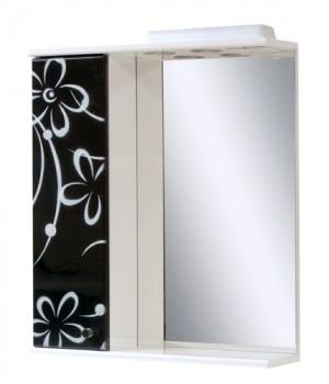 Зеркало 60 см ромашка черно-белая
