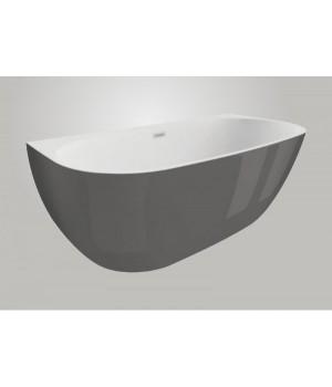 Акрилова ванна RISA графітова, 170 x 80 см Polimat