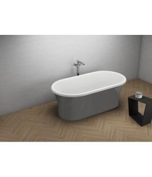 Акрилова ванна AMONA NEW графітова, 150 x 75 см Polimat