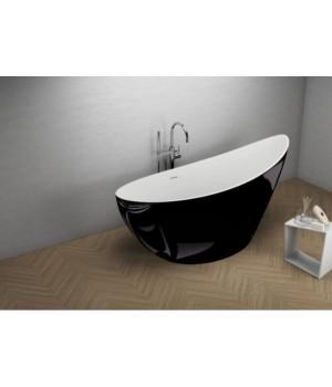 Акрилова ванна ZOE чорна глянцева, 180 x 80 см Polimat