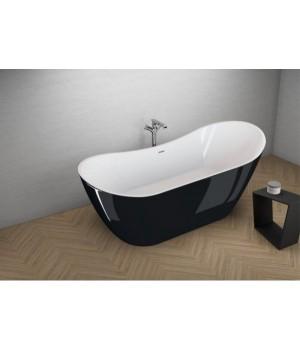 Акрилова ванна ABI чорна глянцева, 180 x 80 см Polimat