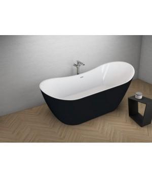 Акрилова ванна ABI чорна матова, 180 x 80 см Polimat