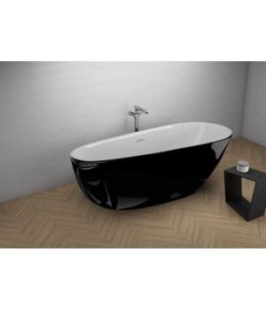 Акрилова ванна SHILA чорна глянцева, 170 x 85 см Polimat