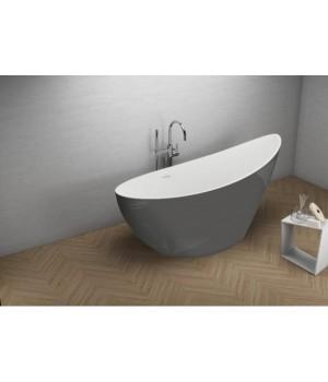 Акрилова ванна ZOE графітова, 180 x 80 см Polimat