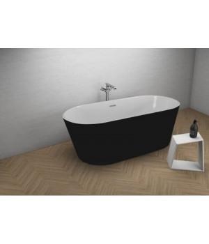 Акрилова ванна UZO чорна матова, 160 x 80 см Polimat