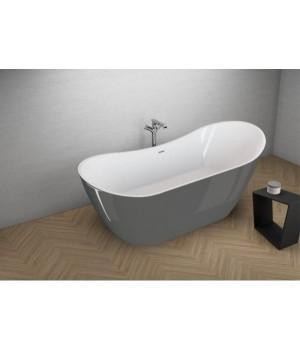 Акрилова ванна ABI графітова, 180 x 80 см Polimat