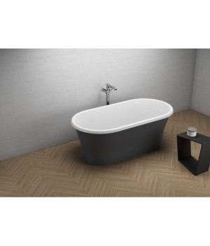 Акрилова ванна AMONA NEW чорна матова, 150 x 75 см Polimat