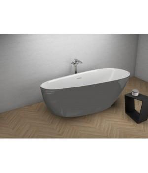 Акрилова ванна SHILA графітова, 170 x 85 см Polimat