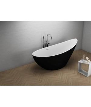 Акрилова ванна ZOE чорна матова, 180 x 80 см Polimat